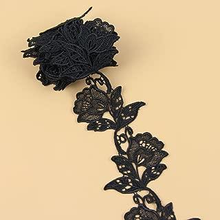 Best black crochet lace fabric Reviews