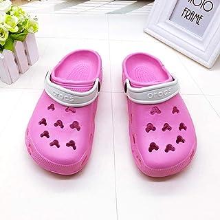 B/H Sandales Natation Homme,Trou Chaussures Pantoufles EVA en Plein air, Couple Pantoufles de Massage-Pink_UK6.5,Couples C...