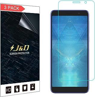 J&D kompatibel med 3-pack Alcatel 1X 2019 skärmskydd, [Inte full täckning] HD klart skärmskydd skärmskydd för Alcatel 1X 2...