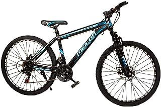 MEILOR Adult bike,21 speed, Wheel Size 26 INCH, with front fork assist,Disc Brake,Reflective Wheel - Black/Blue, Adult mou...