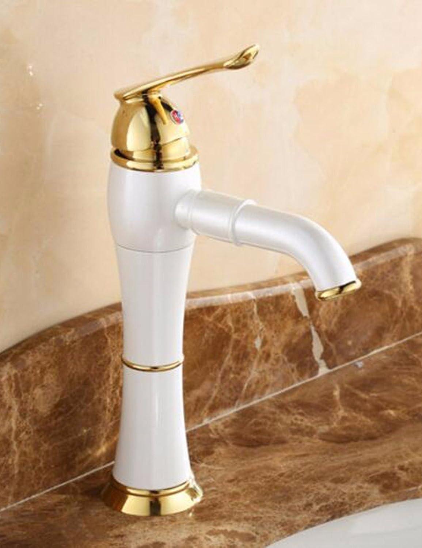 ETERNAL QUALITY Bad Waschbecken Wasserhahn Küche Waschbecken Wasserhahn Jade Kupferner Retro Heier Und Kalter Hahn Waschtischmischer BEG587