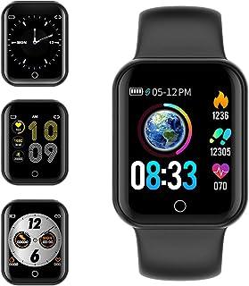 Smartwatch, KUNGIX Reloj Inteligente Impermeable IP68 Pulsera de Actividad Inteligente con Monitor de Sueño Pulsómetros Po...