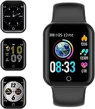 Smartwatch, KUNGIX Fitness Armband Uhr mit Blutdruckmessung IP68 Wasserdicht Smart Watch Mit Pulsmesser Schlafmonitor Schrittzähler Kalorienzähler Armbanduhr für Kinder Damen Herren
