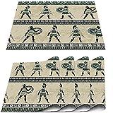 COFEIYISI Manteles Individuales Juego de 4,Antigüedades con Luchadores griegos Antiguos y armaduras Antiguas étnicas Tradicionales Salvamanteles para la Mesa de Comedor de Cocina 30x45cm