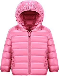 Wofupowga Little Toddler Girls Outdoor Hooded Outwear Bubble Thicken Parka Jackets Coat