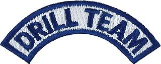 JROTC/ROTC Drill Team Tab Sew-On Patch (Royal Blue on White)
