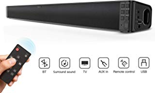 Surround Sound Bar, dodocool 32-Inch Wired & Wireless BT 4.2 Stereo Soundbar, Three Equalizer Mode Audio Speaker for TV, USB/SD/AUX Input, Wall Mountable, Remote Control