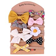 Baby Girl Headbands,8 Pack Hair Accessories Bow Flower for Newborn Infant Toddler Girls