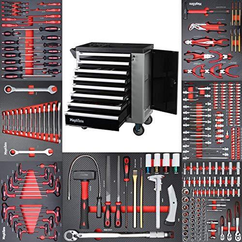 Werkzeugwagen Werkstattwagen mit 8 Schubladen davon 7 mit Werkzeug wie Schraubenschlüssel, Ratsche...