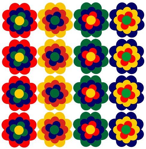 WERBUNGkreativ Aufkleber Autoaufkleber Fliesenaufkleber Fahrradaufkleber Blumen ähnlich Prilblumen Retroblume 16 x 3cm