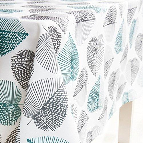 JameStyle26 Tischdecke Tischtuch Decke Küche Wohnzimmer abwaschbar Blatt Motiv Oxford verschiede Größe (140 x 240 cm)