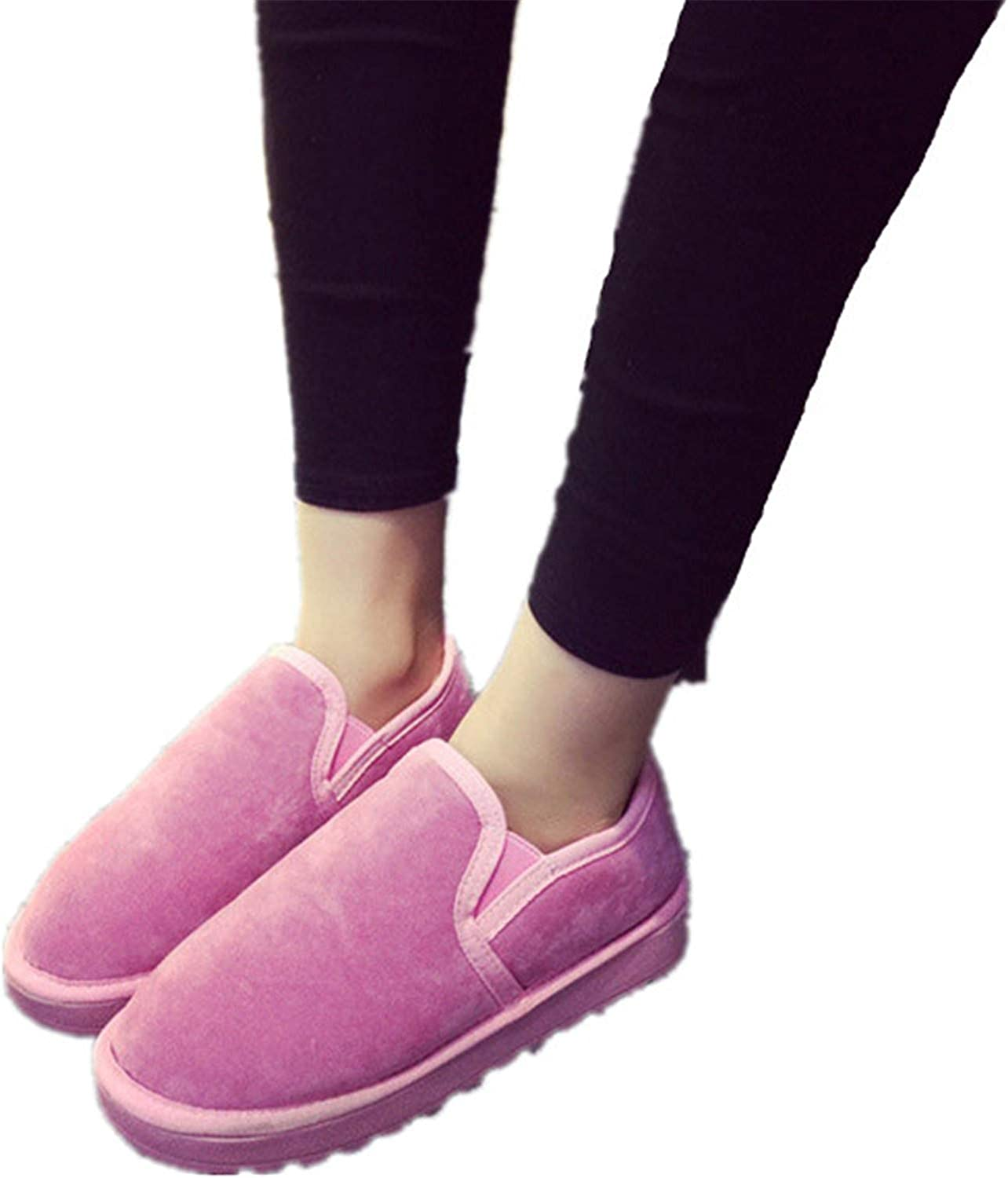 XIAFEIMANTIAN Thick Plush Casual Women Ankle Boots Comfortable Light Lazy Flats Snow Boots
