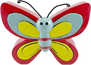 BANK Butterfly Piggy Resin Resin Savings Coins 281097