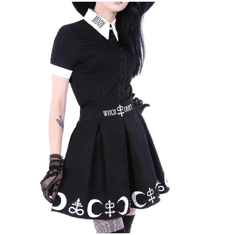 Kankanluck 女性のHallowmasシャツトップボディーコンスカート2ピース衣装ドレス