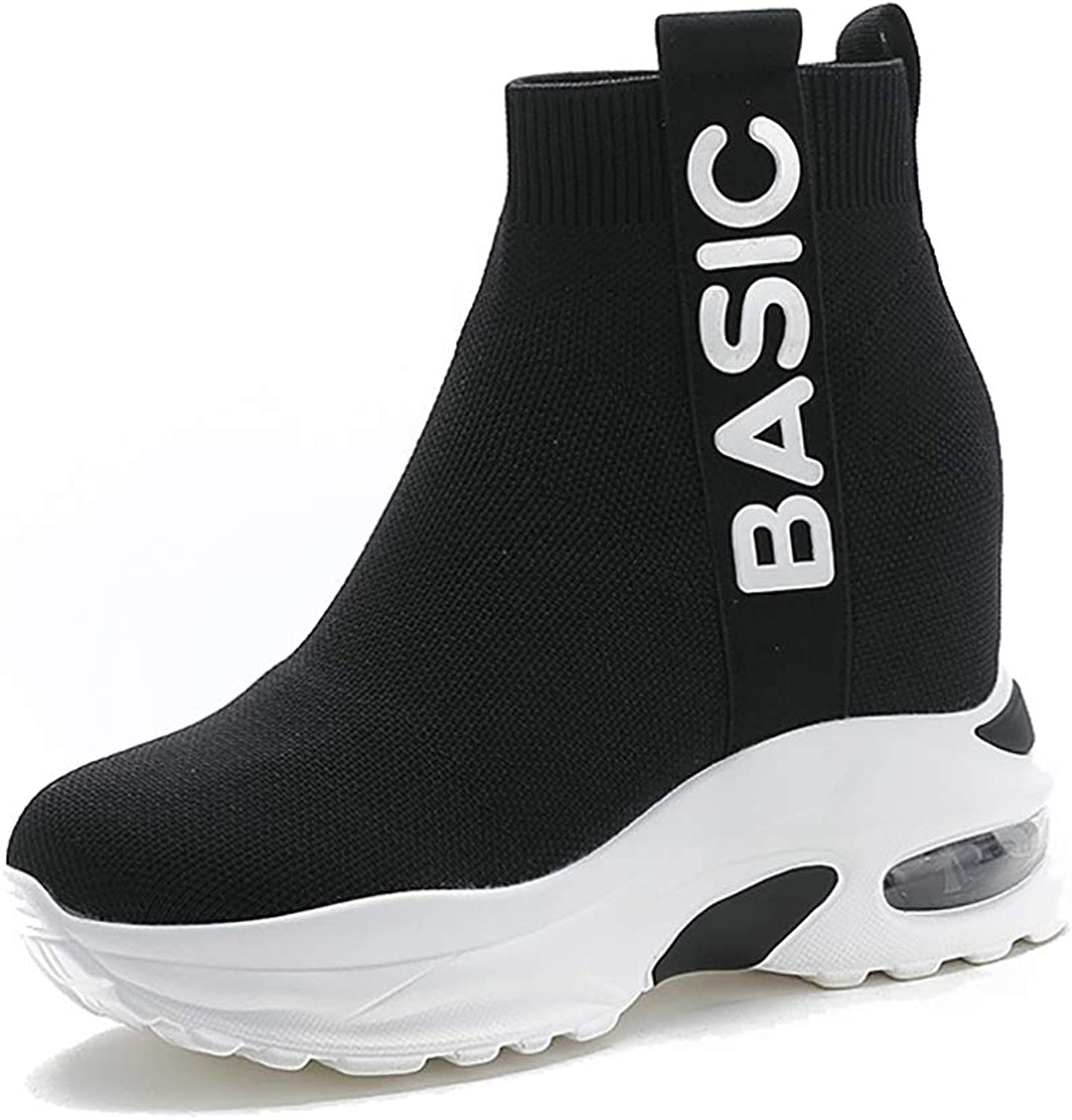 Elastic Socks shoes Women, Sports shoes Women, Casual Sports Socks Boots Fashion Wild Spring Summer Home Outdoor White, Black 34-39
