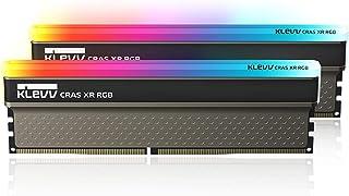 KLEVV デスクトップPC用 ゲーミング メモリ PC4-32000 DDR4 4000MHz 8GB x 2枚 288pin CRAS XR シリーズ SK hynix製 メモリチップ採用 KD48GU880-40B190Z