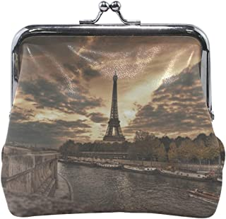 Your Home Coin Purse Paris Promenade Eiffel Tower Hdr Print Wallet Exquisite Clasp Coin Purse Girls Women Clutch Handbag