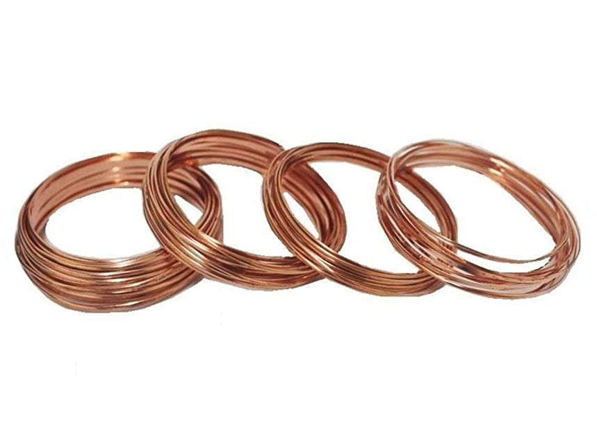 Modern Findings Assorted Half Round Copper Wire (Dead Soft)