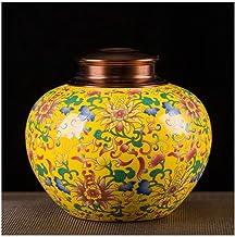 Funeral Urn Cremation Urn Ash Adult Children Pet Commemorative Hand Burial Urn Box Home Ceramic Burial Urns at Home Enamel...