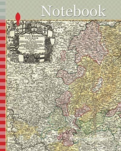 Notebook: 1730, Homann Map of the Upper Rhine, Frankfurt, Cassel, Coblentz, Darmstadt