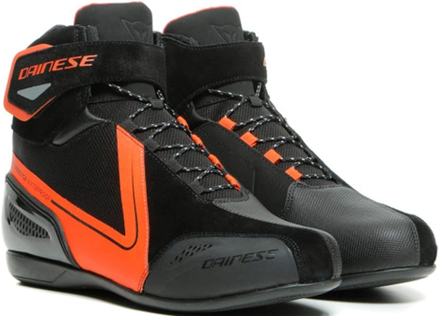Dainese Energyca D-WP Mens New popularity Motorcycle Shoes Red Fluo 39 Black EU Selling and selling
