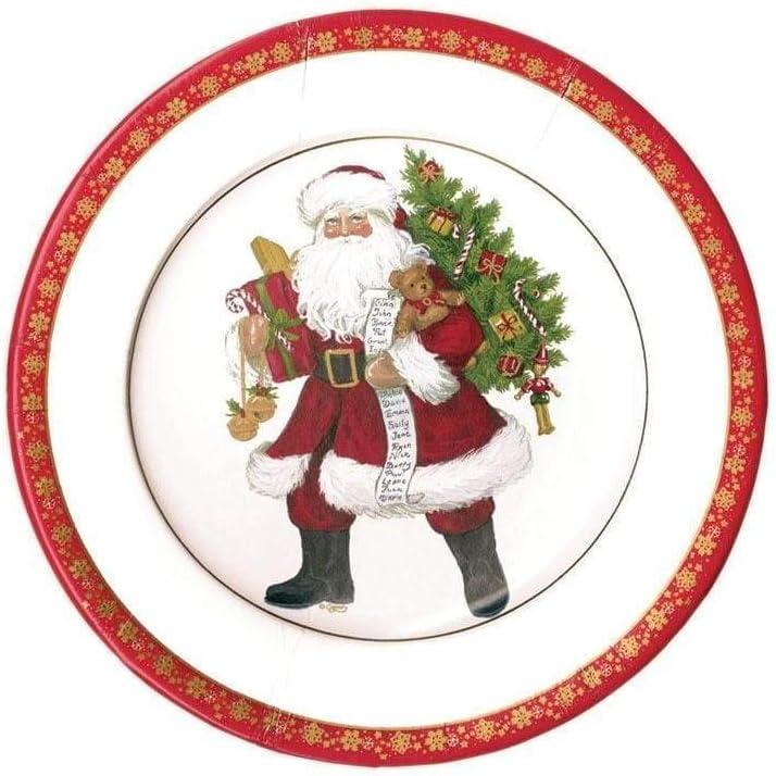 Caspari Lynn Haney Max 63% OFF San Francisco Mall Santa Paper Packs Salad Two Plates Dessert