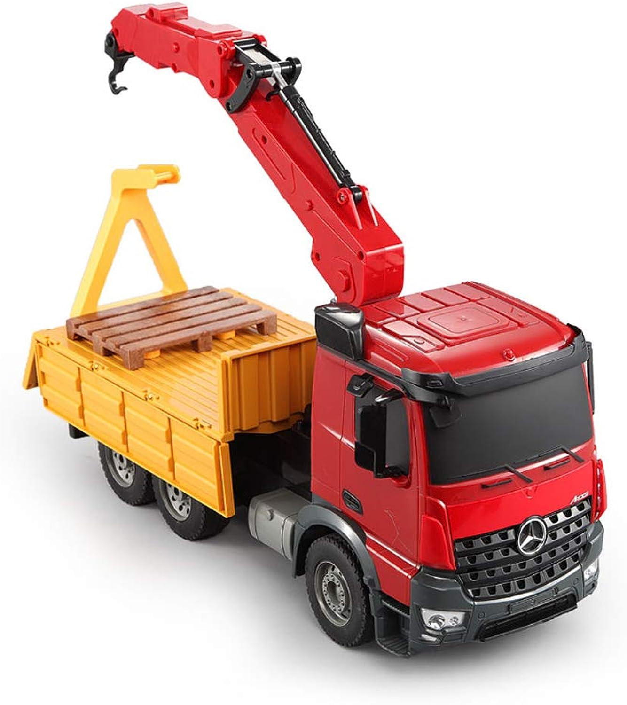 ¡No dudes! ¡Compra ahora! LXWM RC Coche Engineering Truck Crane 1 1 1 20 2.4G Mercedes-Benz Autorizado con música y Niños Ligeros Niños  ventas de salida