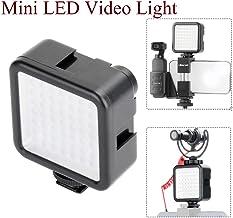 Elegantstunning Ulanzi - Mini cámara de fotos con luz LED para D-Ji Osmo Pocket Nikon Sony A6400 DSLR Gimbals