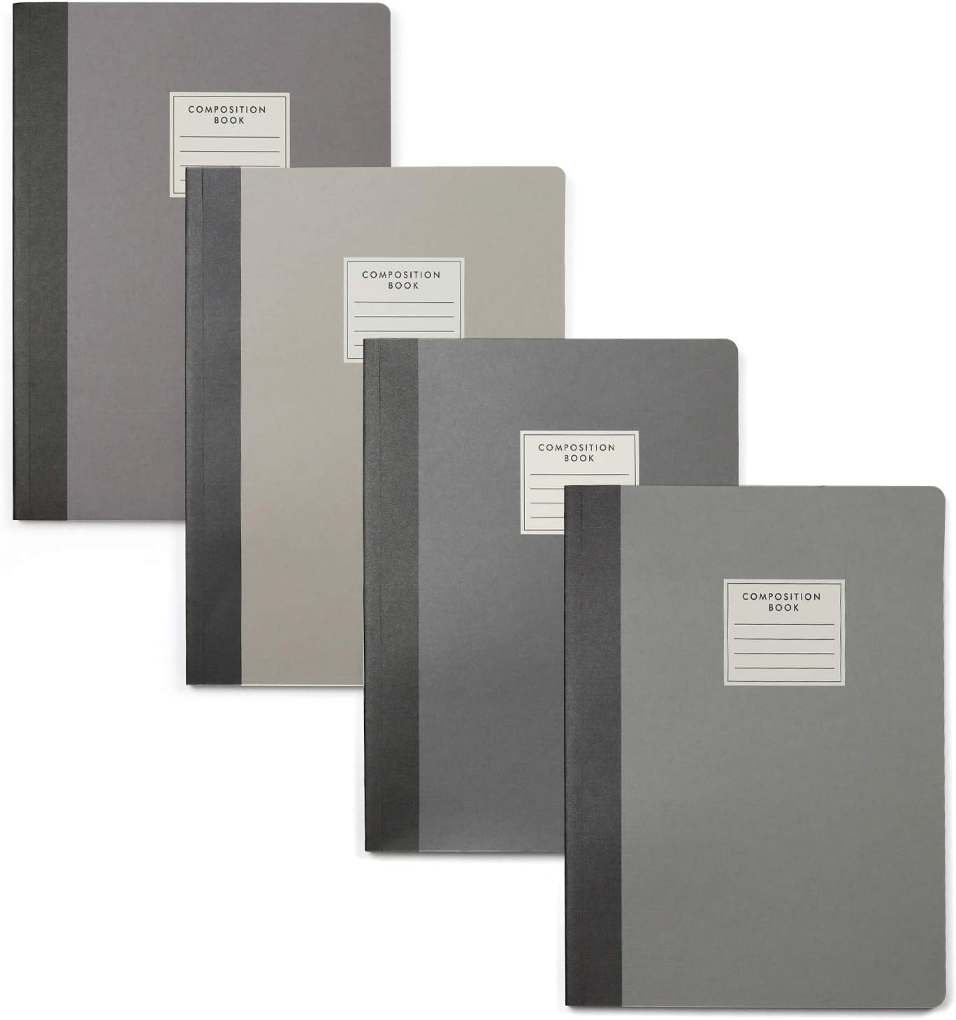4 Pack College Ruled Composition Notebook, Wide Ruled Comp Book/Journal, 9-3/4