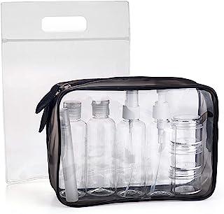 MOCOCITO Neceser Transparente con 8 Botellas de Viaje (MAX.