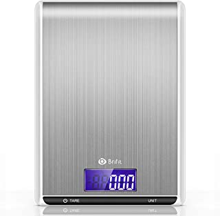 [Upgraded] AMIR Digital Kitchen Scale, 500g/ 0.01g Mini Pocket Jewelry Scale, Cooking Food Scale with Back-Lit LCD Display, 2 Trays, 6 Units, Auto Off, Tare, PCS Function, Stainless Steel, Black9