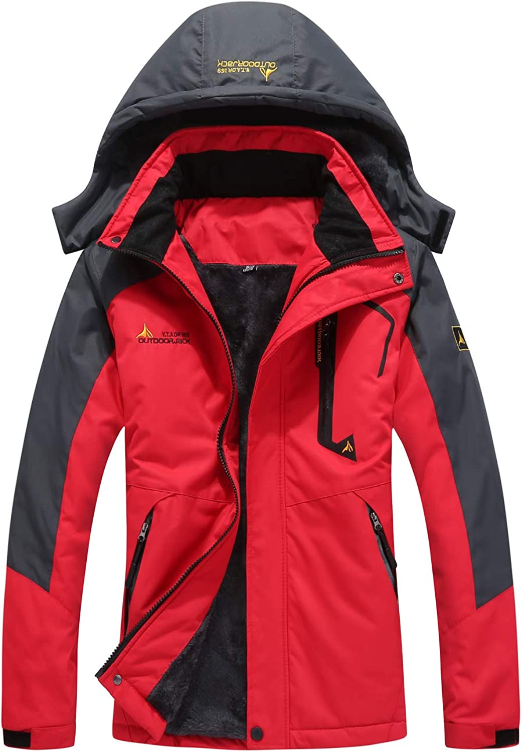 SEFON Women's Waterproof Outdoor Mountain Ski Camping Jacket Sport Outerwear Windproof Rain Jacket