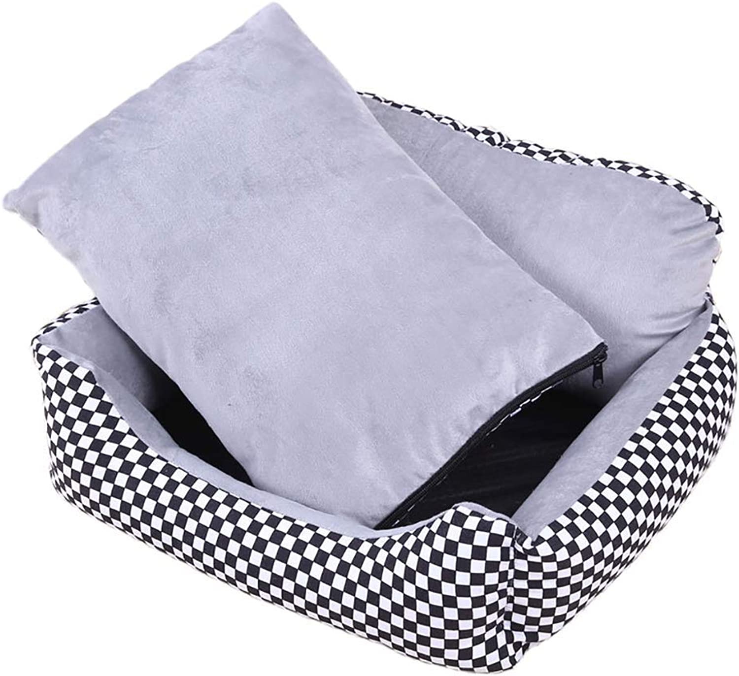 Pet Bed Pet Bed Sofa House for Dog Cat, Washable Covers, Durable, Available in All Seasons, Large, 3 colors Optional (color   3, Size   L(90  70  23cm))