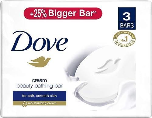 Dove Cream Beauty Bar - Soft, Smooth, Moisturised Skin, 3x125 g