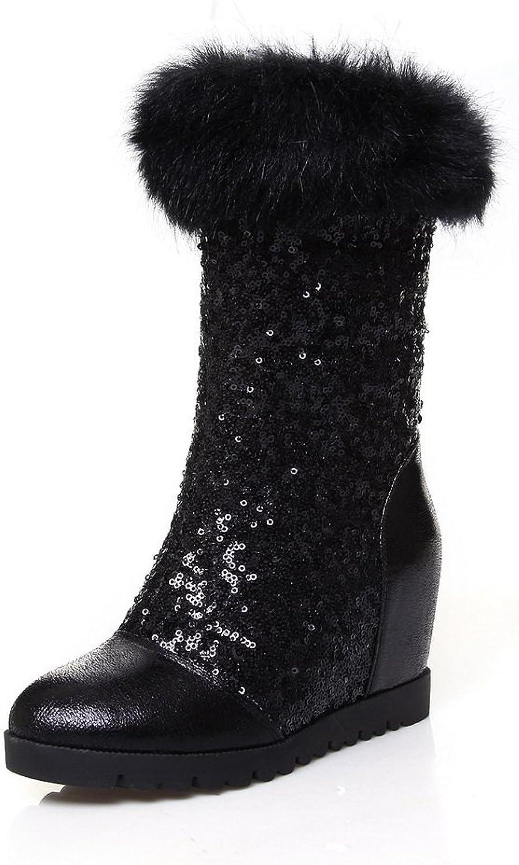 1TO9 Womens High-Heels Fringed Heighten Inside Urethane Boots