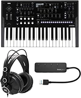 $779 » KORG Wavestate Wave Sequencing Digital Synthesizer Bundle with Knox Gear Closed-Back Studio Monitor Headphones & 4-Port US...