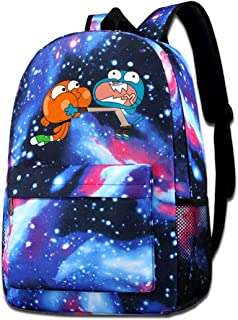 MichaelJMichaels Unisex Galaxy Backpack The Amazing World of Gumball Bookbag for School College Student Travel Business