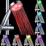 GreForest LED Changement de couleur pomme de douche pommeau 7 couleurs changent...