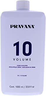 Pravana Creme Developer 10 Volume for Unisex 33.8 oz Treatment, 1000 ml