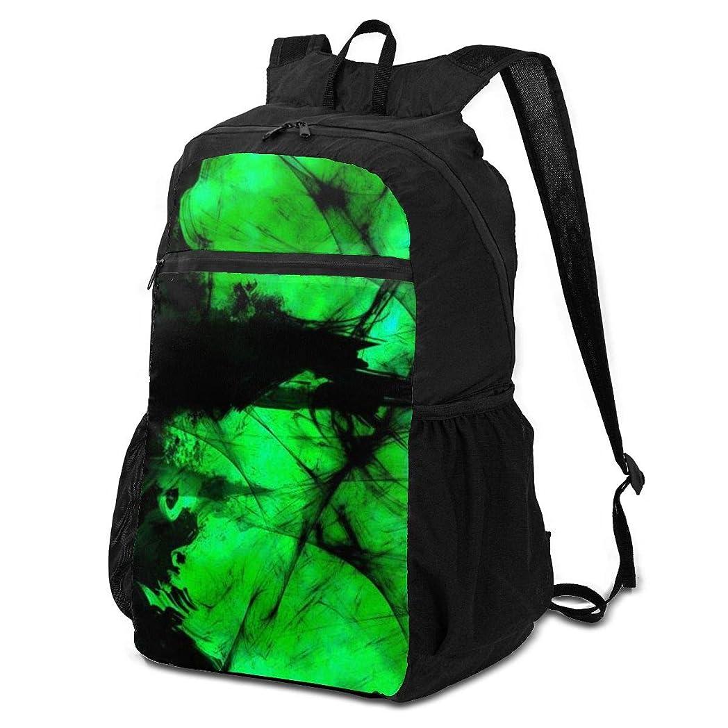 推測旧正月協力する登山リュック ザック 緑の要約 バックパック 軽量 防水 通勤 小型旅行 折りたたみ式キャンプ アウトドアバッグ