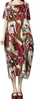 女性の緩い綿半袖クルーネックドレスろんぐ ぬりえ もこもこ ドレス やすい おおきいサイズ ドレス かみかざり
