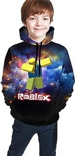 Owen Wilkins Children's Hoodies Dabbing Ro-blox Hooded Sweatshirt Unisex Pocket Hooded Sweatshirts for Boys/Girls/Teen/Kid's