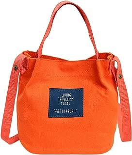 Fanspack Canvas Small Tote Handbags Casual Magnetic Snap Top Handle Bag Crossbody Shoulder Bag for Women