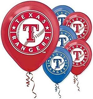 """Texas Rangers Major League Baseball Collection"" Printed Latex Balloons, Party Decoration"