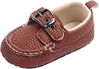 Weixinbuy Toddler Baby Boy Soft Sole Slip-On Loafer Boat Shoe Outdoor Walking Shoes First Walker