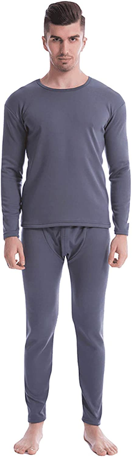 MEIFXIH Men's Double Layer Thermal Underwear Set Winter Thick Fleece Lined Base Layer Top & Bottom