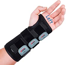 Wrist Brace for Carpal Tunnel, Adjustable Wrist Support Brace with Splints Left Hand, Large/X-Large, Arm Compression Hand ...