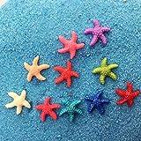 30 piezas pequeñas de estrella de mar de resina ambiental para decoración de acuarios, decoración de plástico para acuarios