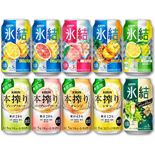 【Amazon.co.jp限定】 キリン 氷結&本搾り 10種 飲み比べセット [ チューハイ 350ml×20本 ]