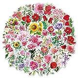 MENGYUE Pegatinas de Flores Cuadernos, Accesorios para álbumes de Recortes, Pegatinas para niños, Pegatinas Florales de Vinilo para Botellas de Agua, calcomanías